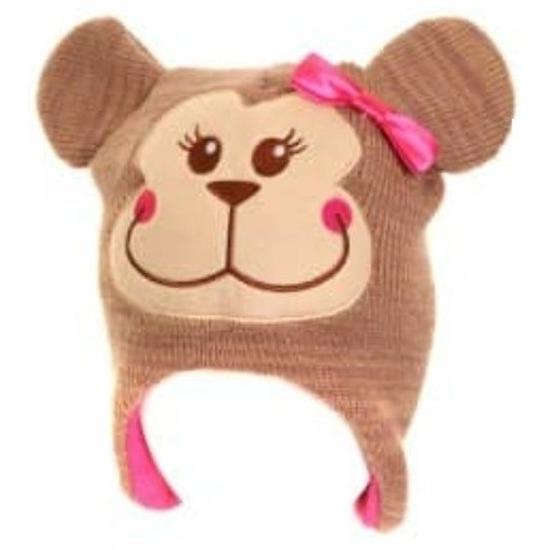 Wintermuts aap voor meisjes roze