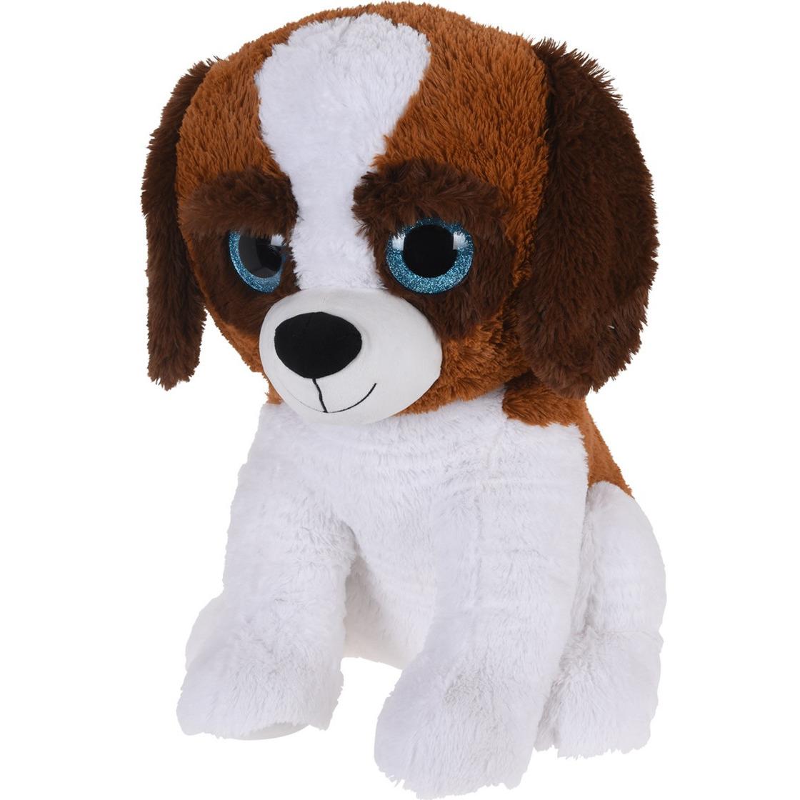 Wit/bruine knuffeldier hond van pluche 50 cm