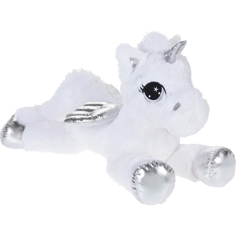 Afbeelding Wit/zilveren knuffeldier eenhoorn van pluche 70 cm door Animals Giftshop