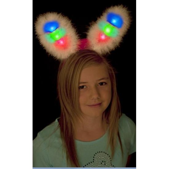 Witte bunny oren met licht