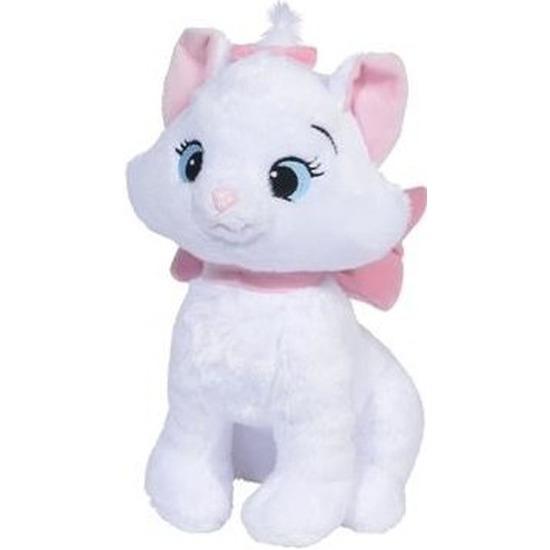 Witte Disney Marie kat/poes knuffels 18 cm knuffeldieren