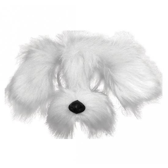 Witte hond masker met vacht