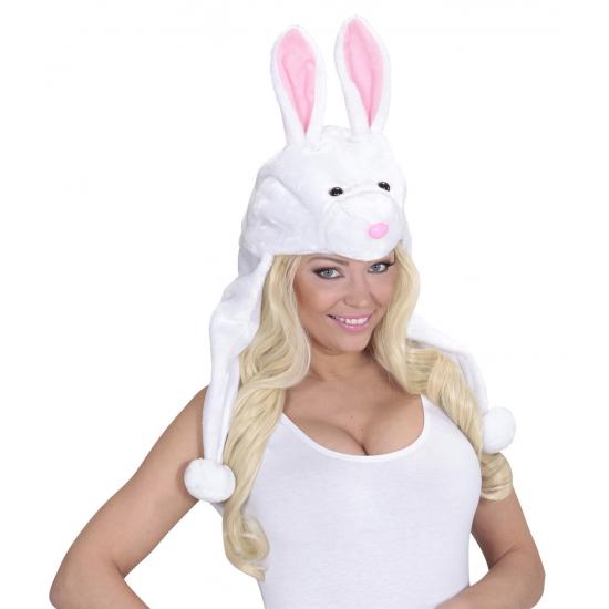 Witte konijnen muts voor volwassenen