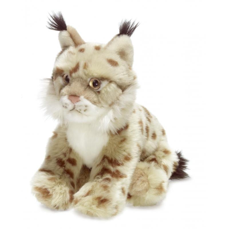 Witte lynx knuffel van het WNF 23 cm