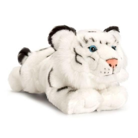 Witte tijger knuffeldier 33 cm