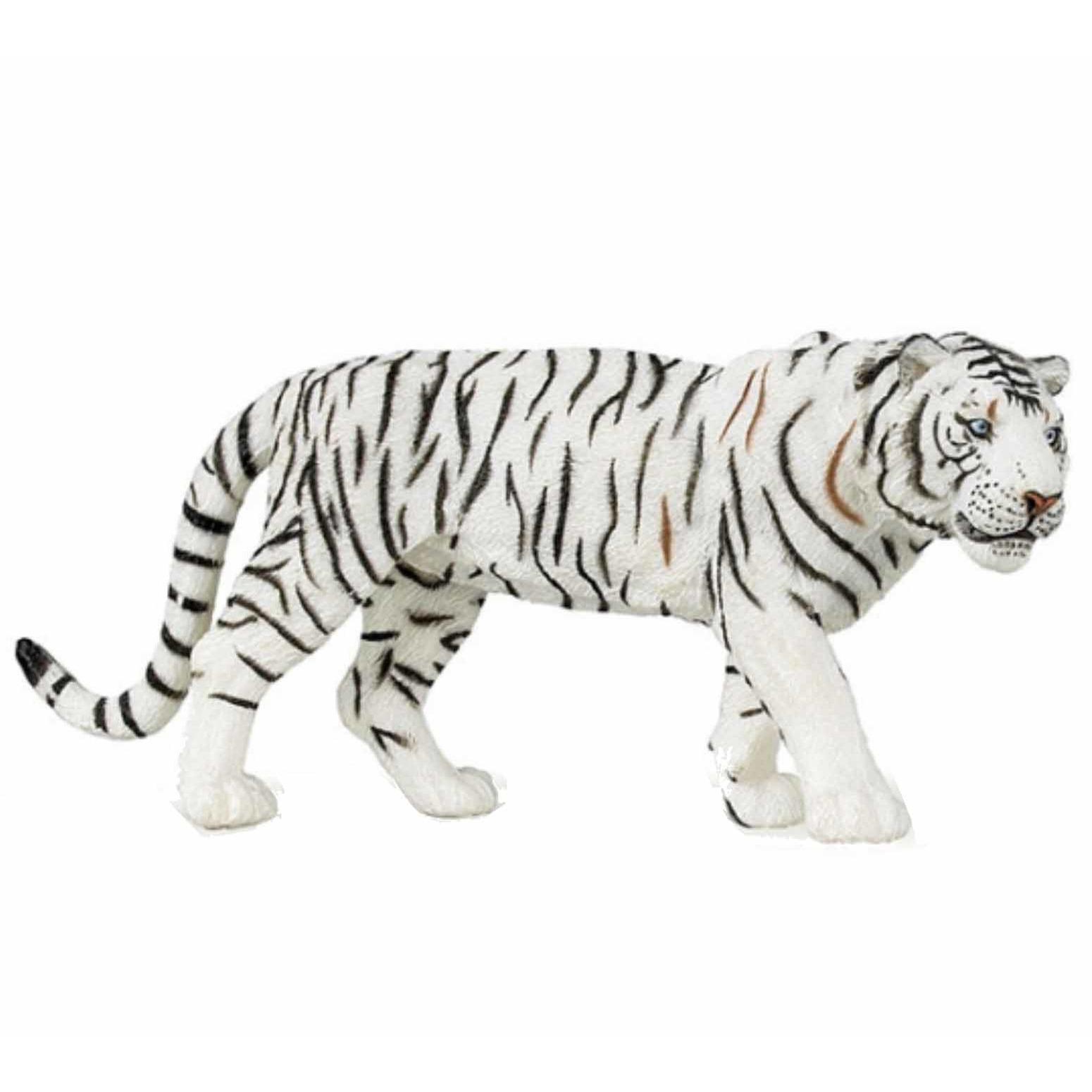 Witte tijger speeldiertje 15 cm
