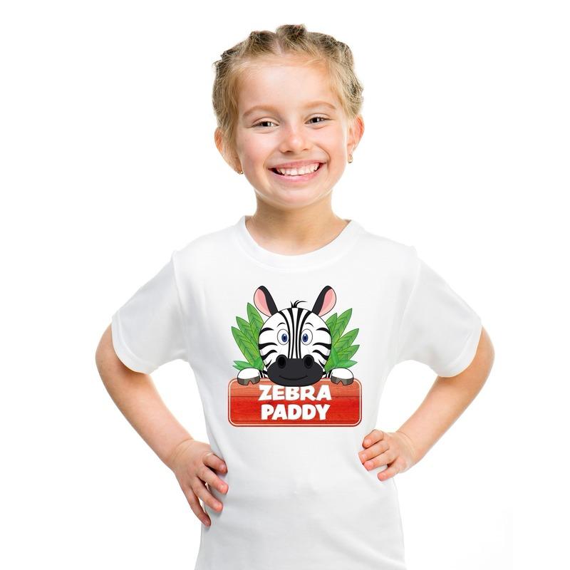 Zebra dieren t-shirt wit voor kinderen