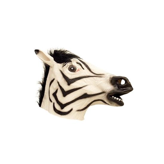 Zebra dierenkop masker