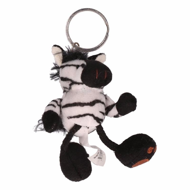 Zebra knuffeltje aan sleutelhanger
