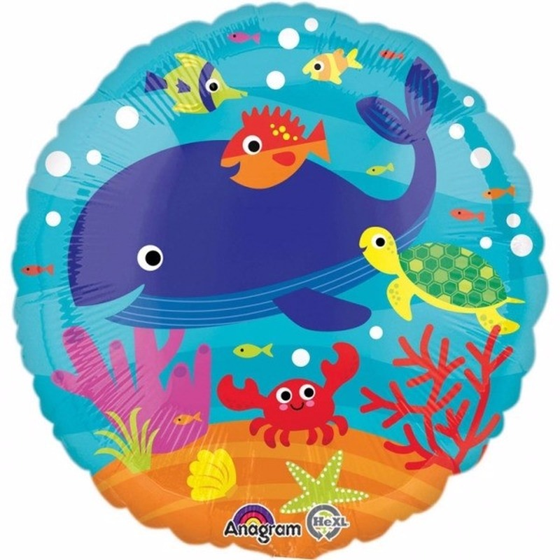 Zeedieren folie ballon 43 cm