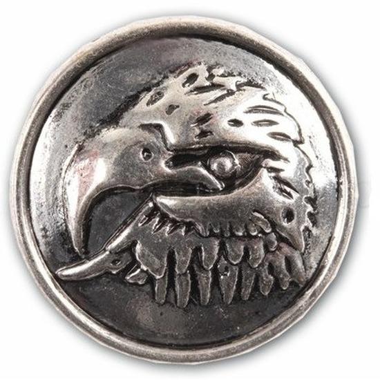 Zilveren chunk met arendskop 1,8 cm