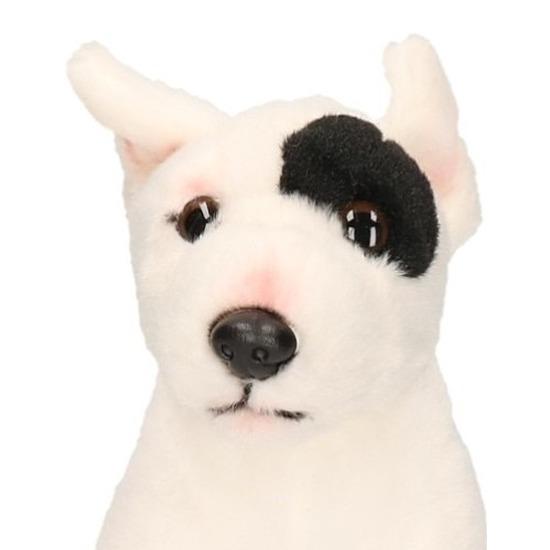 Zittende Bull Terrier knuffel 20 cm