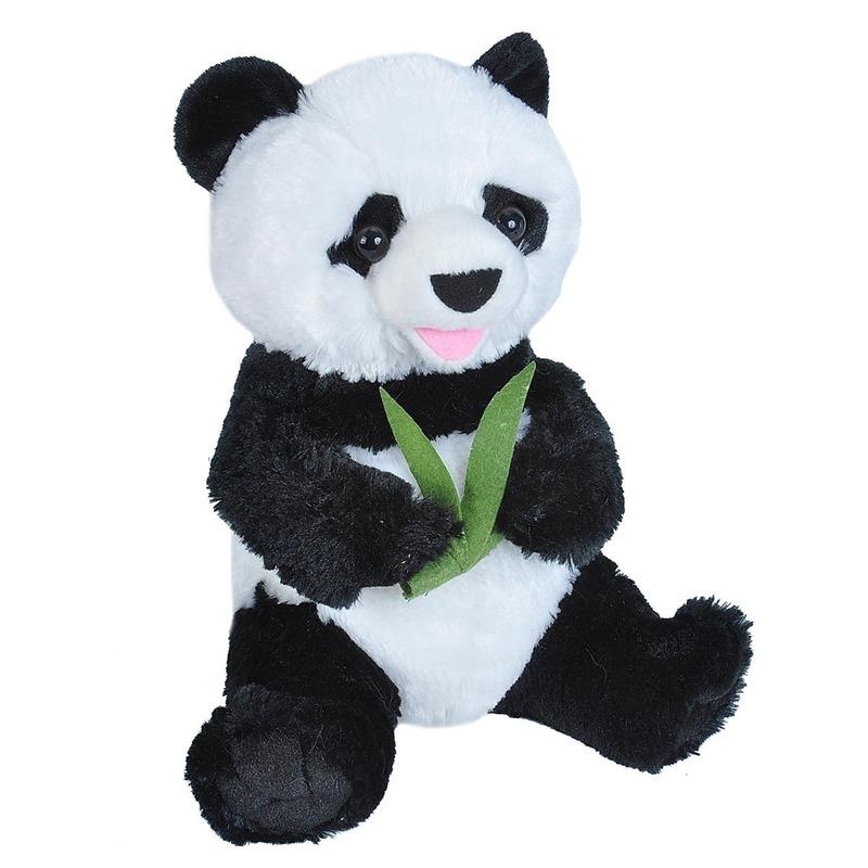 Zwart/witte beren knuffels 25 cm knuffeldieren