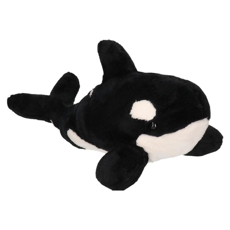 Zwart/witte orka knuffels 36 cm knuffeldieren