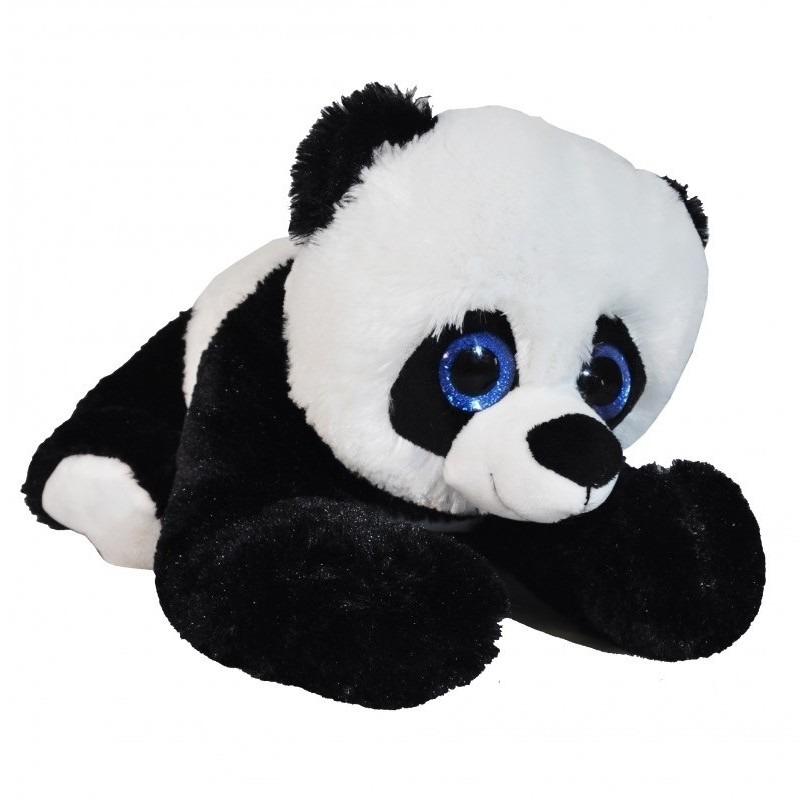 Zwart/witte panda beer knuffel 34 cm knuffeldieren