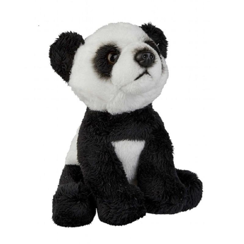Zwart/witte pandabeer knuffel 15 cm knuffeldieren
