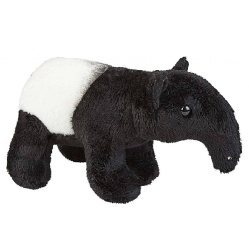 Zwart/witte tapir knuffel 19 cm knuffeldieren