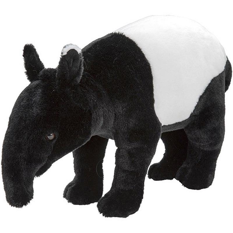 Zwart/witte tapirs knuffels 26 cm knuffeldieren