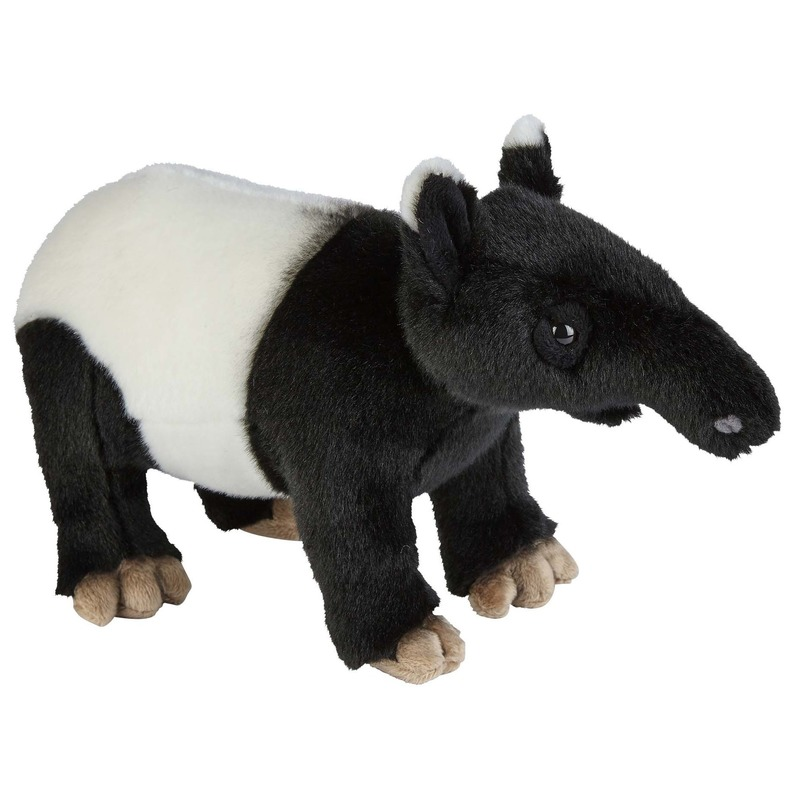 Zwart/witte tapirs knuffels 28 cm knuffeldieren