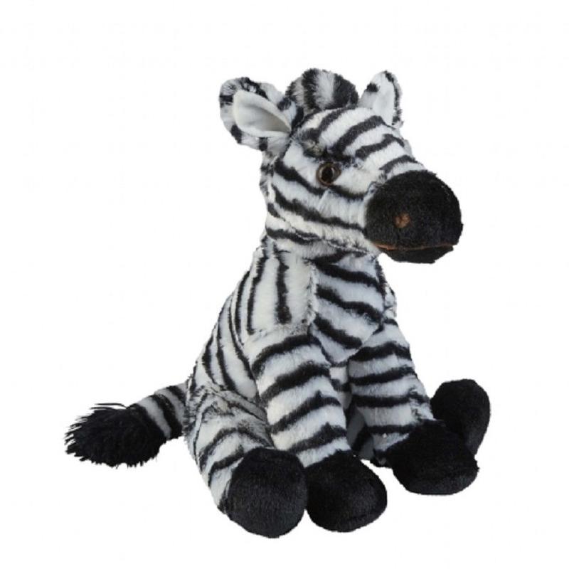 Zwart/witte zebra knuffel 30 cm knuffeldieren