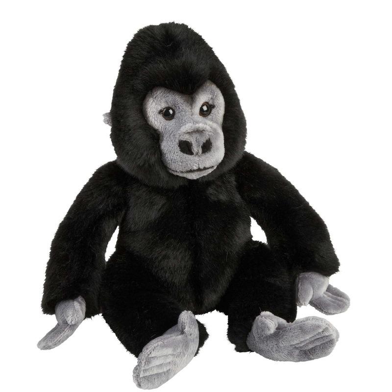 Zwarte gorillas knuffels 28 cm knuffeldieren