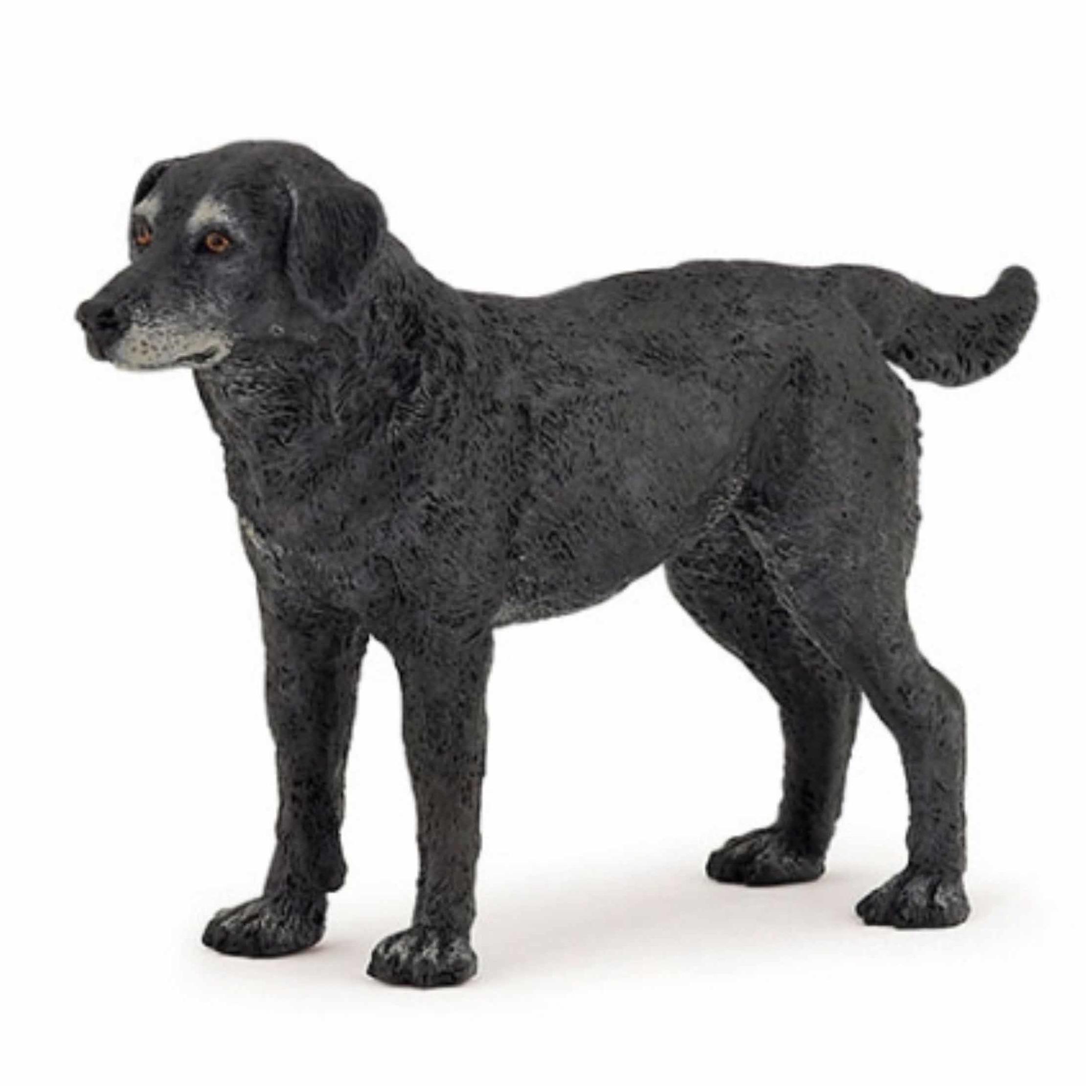 Zwarte hond speeldiertje 10 cm