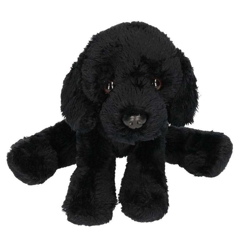 Zwarte Labrador knuffel 12 cm