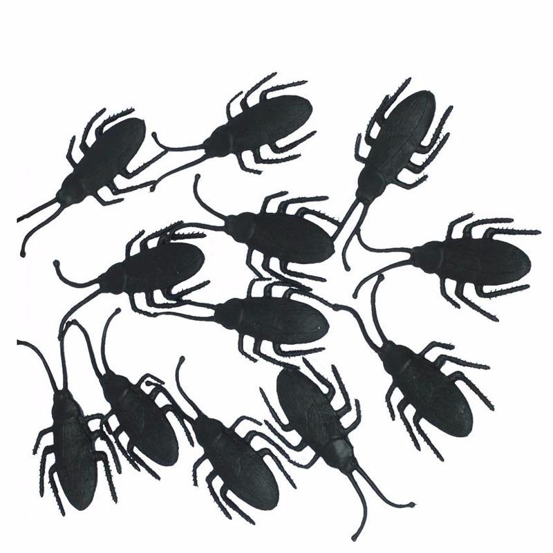 Zwarte nepkevers 12x stuks 7 cm