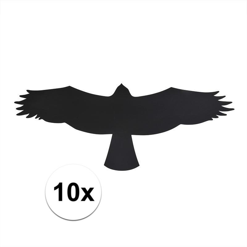 Zwarte raamstickers met vogels buizerd 10 stuks