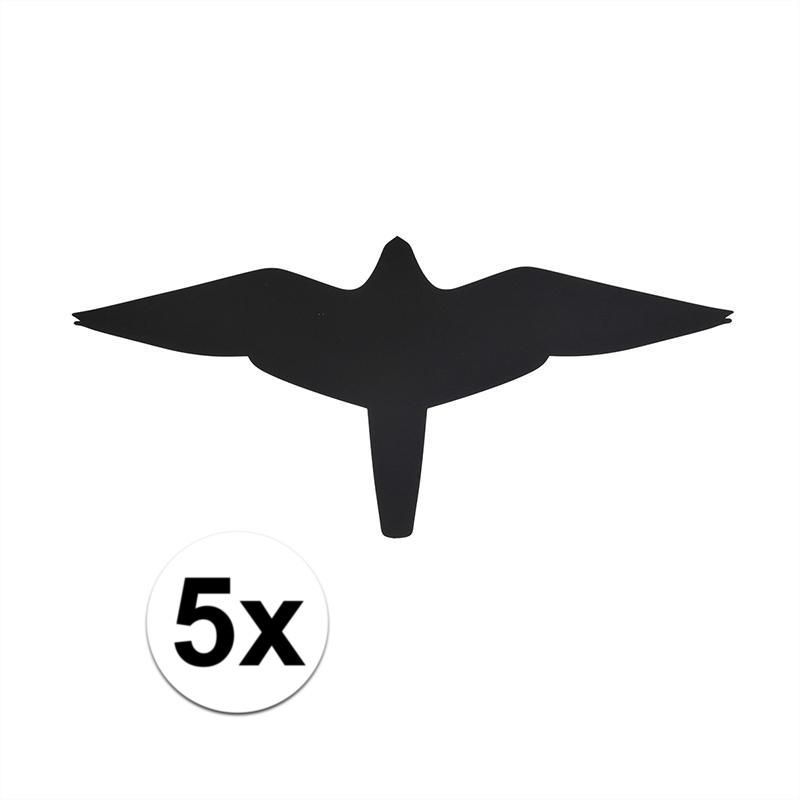 Zwarte raamstickers met vogels valk 5 stuks