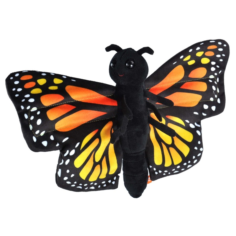Zwarte vlinders knuffels 20 cm knuffeldieren